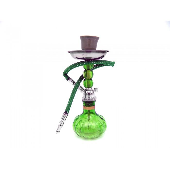 Наргиле 20см със зелени топчета стъкло